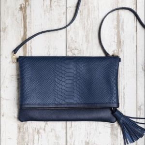 GIGI New York Rachel Convertible Navy Blue Clutch